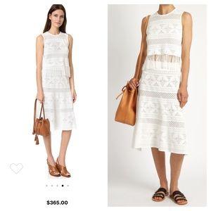 ALC tunney lace white midi skirt small